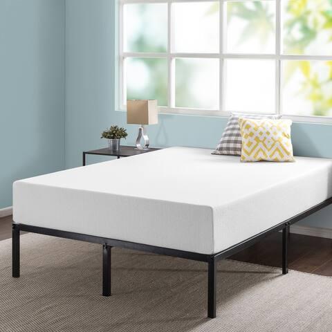 12 Inch Green Tea Memory Foam Mattress and 14 Inch Metal Platform Bed Frame Set
