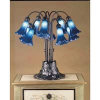 Meyda Tiffany 14397 Stained Glass / Tiffany Table Lamp from the Lilies Collection - n/a