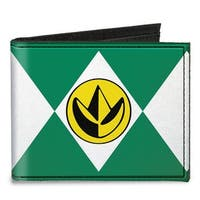 Diamond Green Ranger Dragonzord Power Logo Canvas Bi Fold Wallet One Size - One Size Fits most