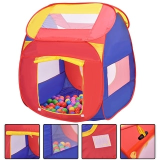 Costway Portable Kid Baby Play House Indoor Outdoor Toy Tent Game Playhut With 100 Balls  sc 1 st  Overstock.com & Playhouses u0026 Play Tents For Less | Overstock.com