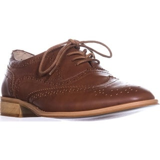 Wanted Babe Lace Up Oxfords, Cognac
