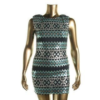As U Wish Womens Juniors Sequined Cap Sleeves Mini Dress