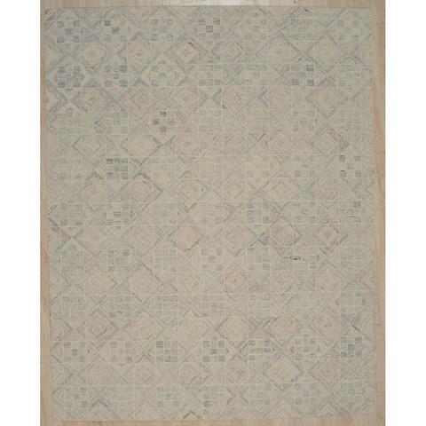 Hand-tufted Wool MULTY Transitional Geometric Modern Tufted Rug - 5' x 8'