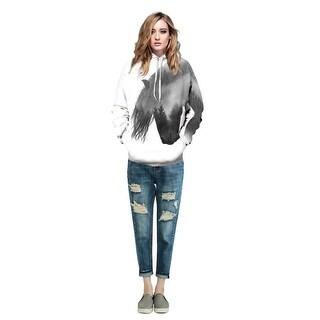 Hooded Sweatshirt Women Horse 3D Digital Printing Casual Hooded Sweatshirt Plus Size