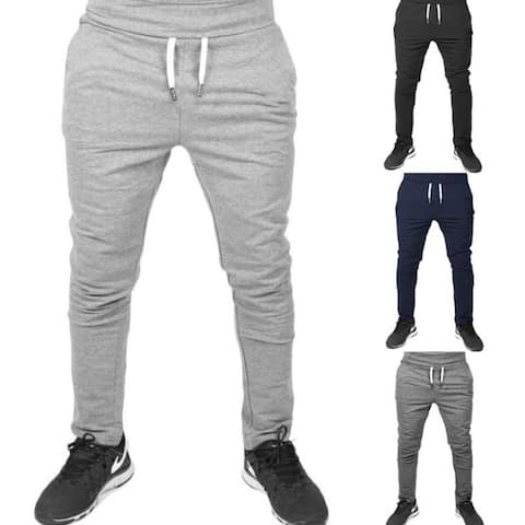 Mens Joggers Sweatpants Casual Skinny Fit Athletic Activewear Cotton Pants With Pockets