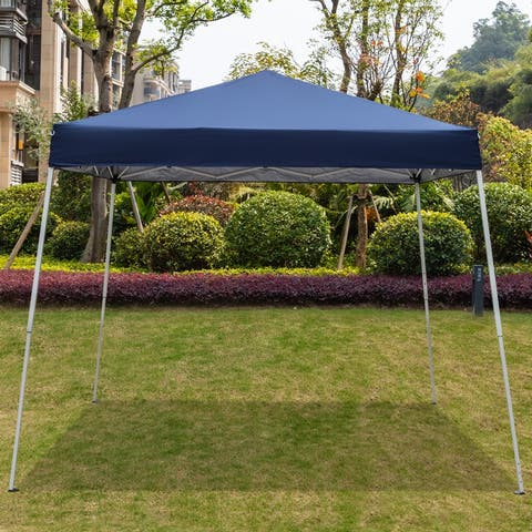 3 x 3M Portable Home Use Waterproof Folding Tent White/Blue