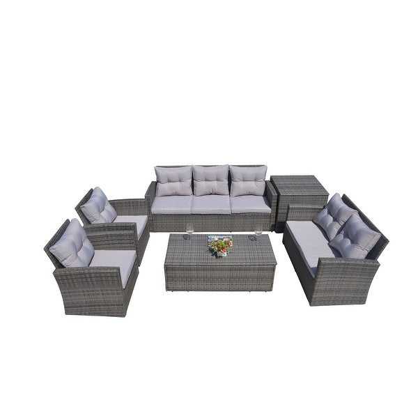 Outdoor 6-Piece Wicker Patio Sofa Set by Moda Furnishings