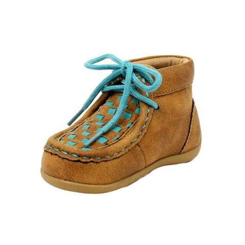 Blazin Roxx Western Shoes Girls Cassidy Lace Up Checkerboard