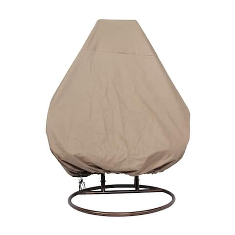 "LeisureMod Outdoor Wicker Hanging Egg Swing Chair Cover - 92"" x 80"""