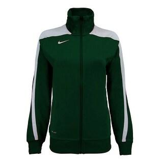 Nike Women's Mystifi Warm Up Jacket - Green - XS