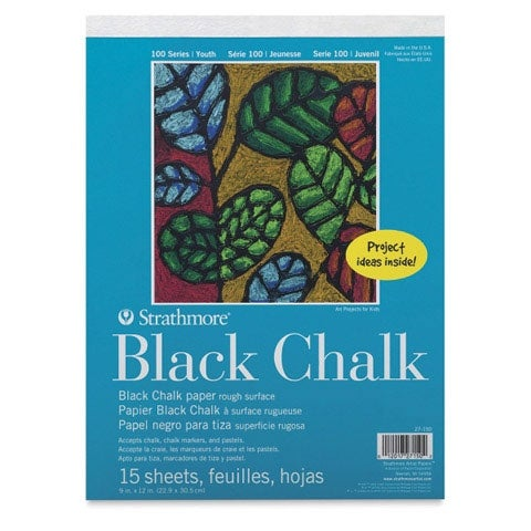 "Strathmore - Kids Black Chalk Paper Pad - 9"" x 12"""