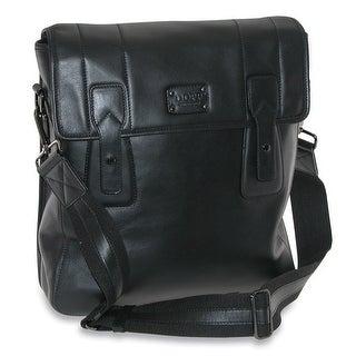 DOPP Men's Leather Gear Urban Messenger Bag
