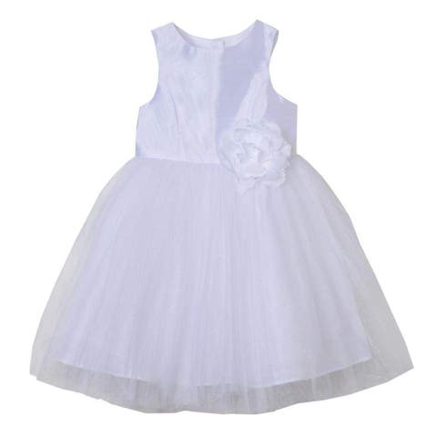 Pippa & Julie Girl's Dress White Size 4 Seraphina Ballerina Floral-Detail
