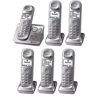 Panasonic KX-TGL463S Dect 6.0 3-Handset Bluetooth Landline Telephone, Silver & White (Refurbished)