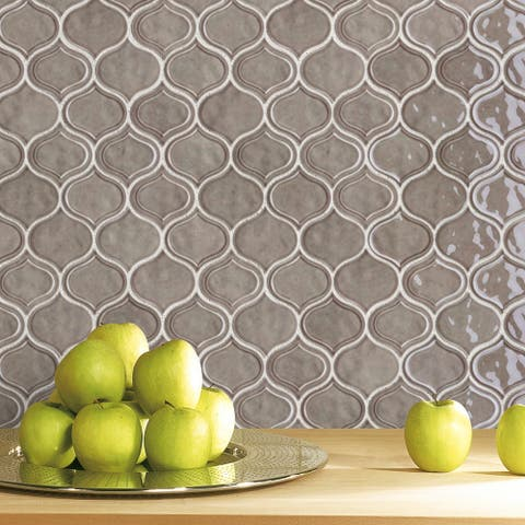 TileGen. Recycle Classic Jolanda Glass Mosaic in Green Wall Tile (10 sheets/8.2sqft.)