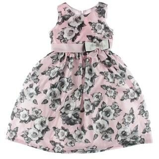 Jayne Copeland Girls Party Dress Floral Print Bow - 10