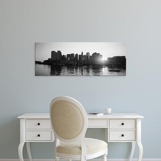Easy Art Prints Panoramic Images's 'Sunset over skyscrapers, Boston, Massachusetts, USA' Premium Canvas Art