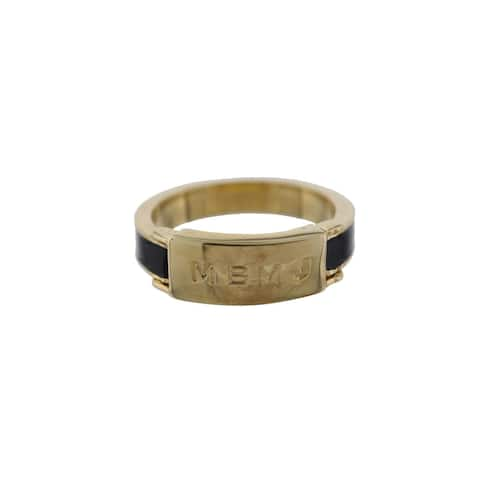 Marc by Marc Jacobs Womens Right-Hand Ring Engraved Logo
