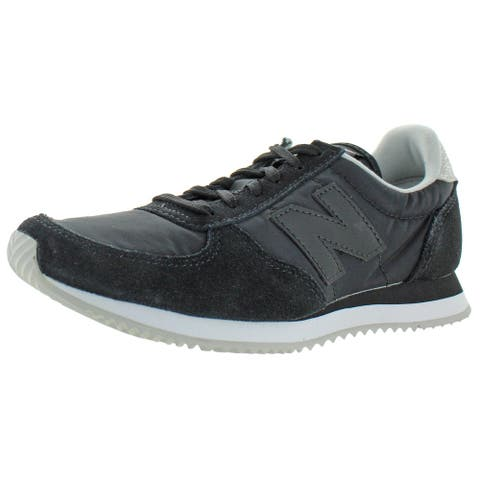 New Balance Women's WL220 Suede Casual Lifestyle Athletic Sneakers Shoes - Black/Nimbus Cloud