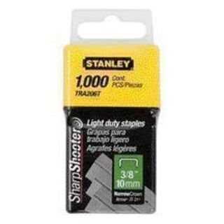 "Stanley TRA206T Light Duty Staples 3/8"", 1000/Pack"