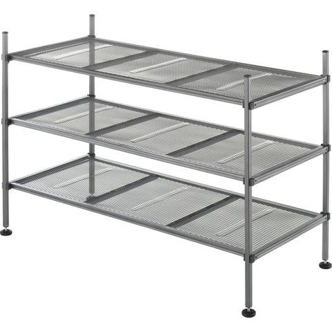 Whitmor 6740-4579 mesh shelves 3tier gunmetal