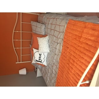 Intelligent Design Khloe Grey/ Silver Metallic Printed 5-piece Comforter Set