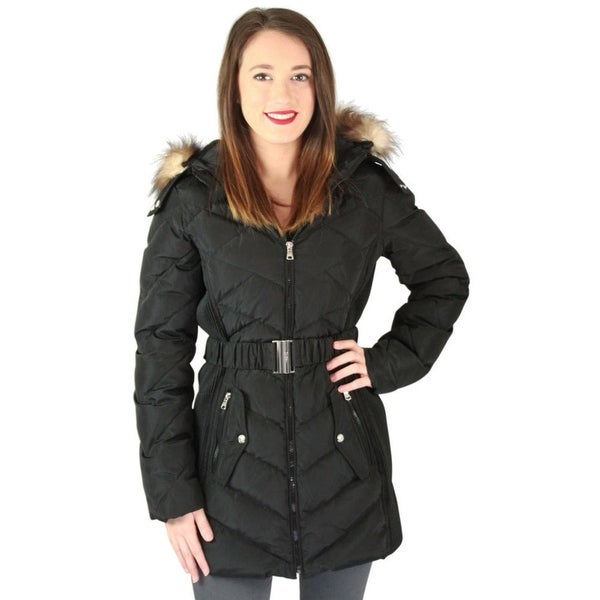 Jessica Simpson Womens Basic Coat Quilted Down