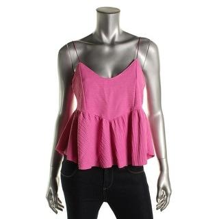 Zara Trafaluc Womens Textured Blouse Crop Top - M