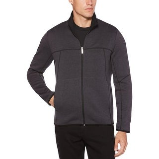 Perry Ellis Mens Full Zip Sweater Fleece Warm