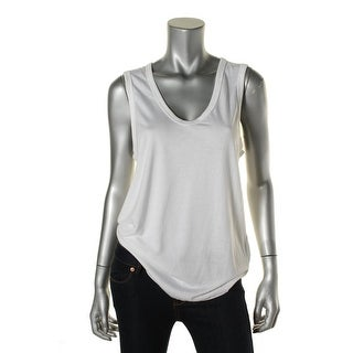 TopShop Womens Stretch Solid Tank Top - 8
