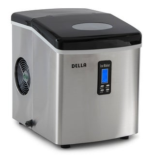 Della Electric Ice Maker Machine Counter Top / Timer & Clock Function / 3 Cube Sizes - 35lb/24hr