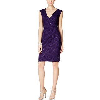 Connected Apparel Womens Cocktail Dress Above Knee Sequined