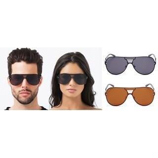 PRIVÉ REVAUX The Hitman Handcrafted Designer Double-Bridge Retro Sunglasses For Men & Women