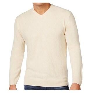 Weatherproof NEW White Ivory Mens Size Large L Diamond Pattern Sweater