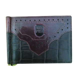 Dan Post Western Wallet Mens Croco Print Trifold OS Mahogany 9305000 - One size