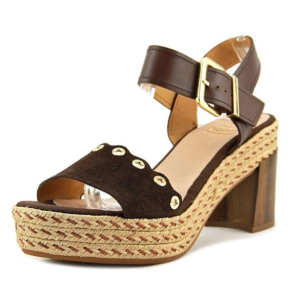 Kanna Serra Women Open Toe Leather Brown Sandals