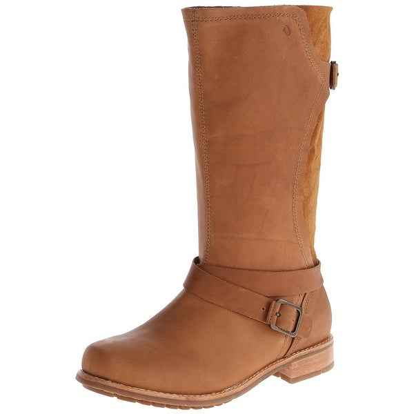 Olukai Brown Womens Shoes Size 5M Pa'ia Mid-Calf Leather Boot