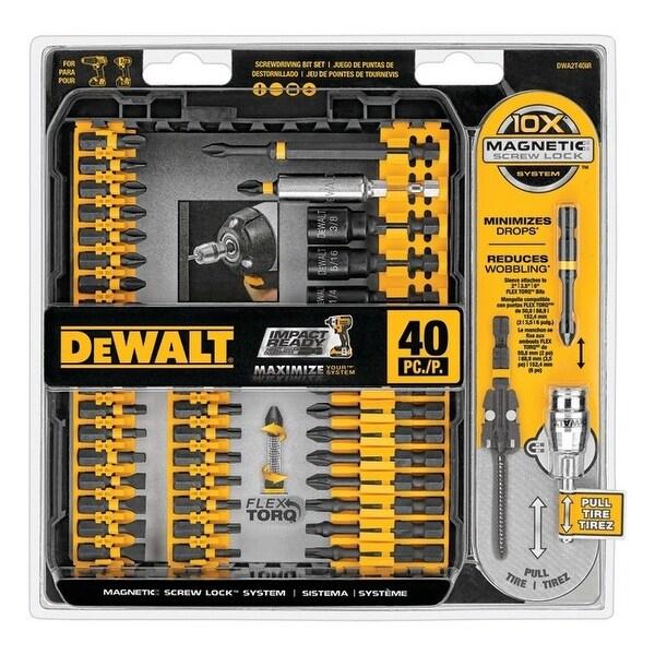 Dewalt dwa2t40ir 40-piece impact ready screwdriver set