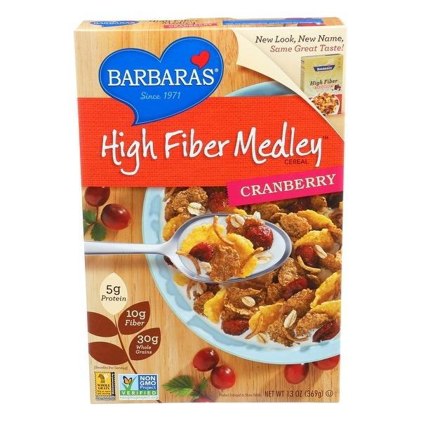 Barbara's Bakery High Fiber Cereal - Cranberry - Case of 6 - 13 oz.