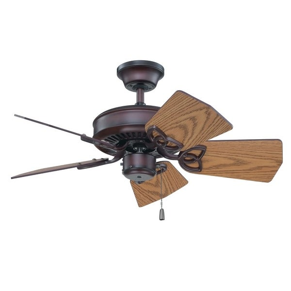 """Craftmade K11243 Piccolo 30"""" 5 Blade Indoor / Outdoor Ceiling Fan with Blades Included - Oiled Bronze"""
