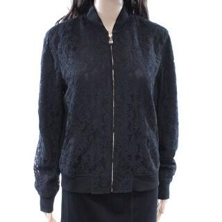 Lauren Ralph Lauren NEW Black Lace Women's Size Medium M Bomber Jacket