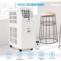 DELLA 8,000 BTU 115V Portable Air Conditioner w/ Remote For Small Rooms Up To 250 Sq. Ft., White