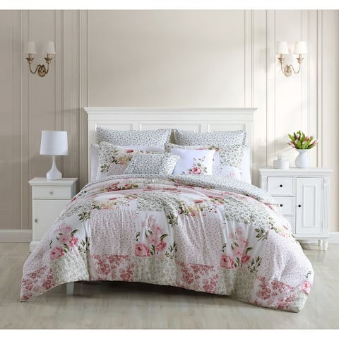 Laura Ashley Ailyn Cotton Pink Comforter Bonus Set