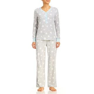 PJ Couture Women's Stars Fireside Chat Pajama Set