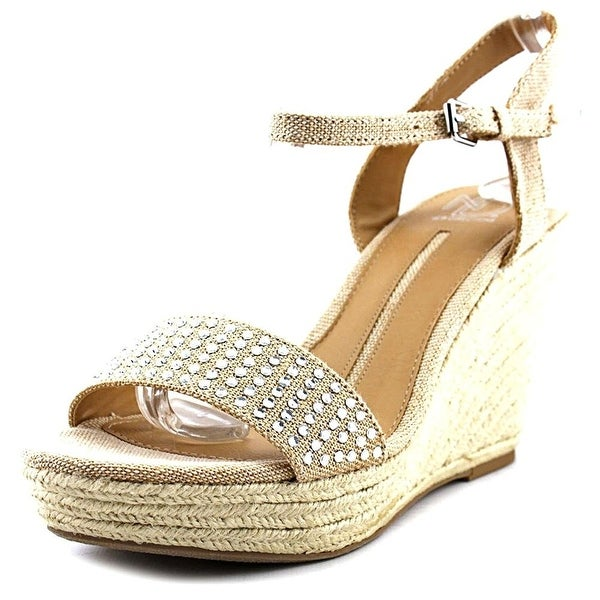 New Directions Womens Julia Open Toe Casual Espadrille Sandals