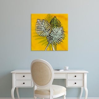 Easy Art Prints Andrea Davis's 'Gold Batik Botanical III' Premium Canvas Art