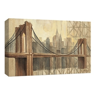 """PTM Images 9-153977  PTM Canvas Collection 8"""" x 10"""" - """"Brooklyn Bridge"""" Giclee New York Art Print on Canvas"""