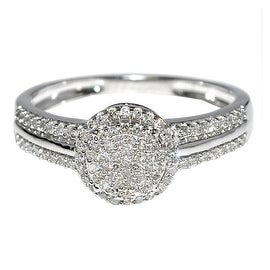 1/4cttw Diamond Bridal Engagement Ring Promise Ring 10K White Gold 8mm(I/j Color 0.25cttw)