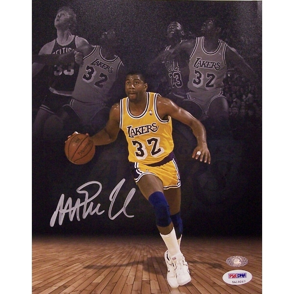 new concept ab81c a812d Magic Johnson Autographed Hand Signed Los Angeles Lakers 8 x 10 Photo PSADNA