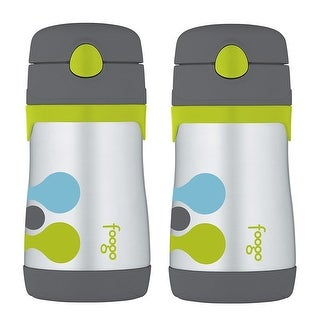 Thermos Foogo Vacuum Insulated 10-Ounce Straw Bottle (Tripoli Pattern, 2-Pack)